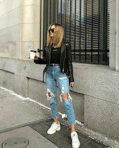 Beautiful How to Wear High Waist Jeans for All Season Ideas. How to Wear High Waist Jeans for All Season Ideas Mode Outfits, Jean Outfits, Fall Outfits, Casual Outfits, Summer Outfits, High Fashion Outfits, Unique Outfits, School Outfits, Outfit Jeans