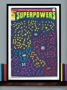 A vintage-looking chart of superpowers by type.