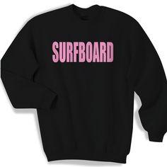 "Beyoncé SURFBOARD Sweatshirt Hardly worn, small black sweatshirt with hot pink ""SURFBOARD"" lettering. Beyonce Sweaters Crew & Scoop Necks"