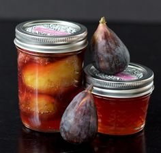Black Mission Figs  - so this is what we have growing in our back yard.    And now I have a couple of recipes if/when I get enough to make a jar or two - hopefully next year there will be more.     Recipes from   Preserved Figs and Fig Jelly
