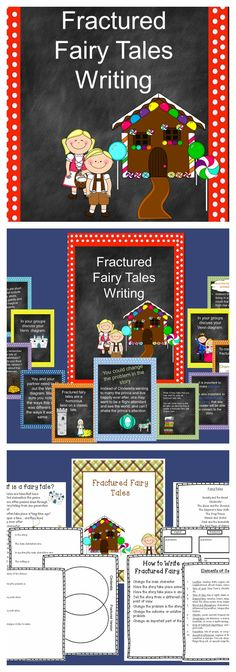 Fractured Fairy Tale Writing- Lesson on Perspective w/organizers ...