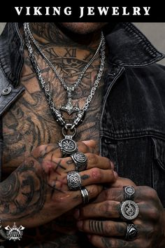 Odins-Glory is a Viking jewelry brand for men and women offering authentic and innovative designs based on Viking culture. Vikings, Sterling Silver Mens Rings, Viking Jewelry, Chains For Men, Luxury Watches For Men, Jewelry Branding, Jewelry Bracelets, Skull Jewelry, Men's Jewelry