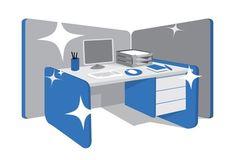 Stock Image: Business/Finance - office organization at work cubicle Work Cubicle, Cubicle Ideas, Clear Desk, Office Organization At Work, Cubicle Makeover, Bedroom Furniture Sets, Bedroom Sets, Furniture Design, Kabine