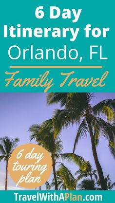 Our Orlando itinerary provides you with a perfect Orlando family vacation guide. We include all of the best things to do in Orlando, including Disney! Visit Orlando, Orlando Travel, Orlando Vacation, Florida Vacation, Florida Travel, Orlando Disney, Downtown Disney, Best Vacation Spots, Family Vacation Destinations
