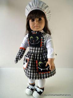 American Girl Halloween Apron Set by SweetPeaFashions on Etsy, $13.00