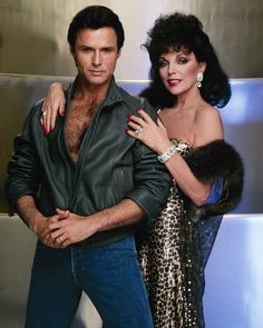 Joan Collins and Michael Nader in Dynasty Joan Collins, Dynasty Tv Series, Der Denver Clan, Linda Evans, New Wife, Nyc, Elizabeth Gillies, Old Tv Shows, Celebs