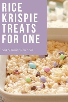See how easy it is to make perfect Rice Krispie Treats in the microwave! This wonderful crispy rice and marshmallow recipe is a single serving version of a classic dessert. Only three ingredients needed and takes just minutes to make!