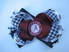 Girl's Alabama Crimson Tide Hair Bow by lilsydneybug on Etsy, $6.50