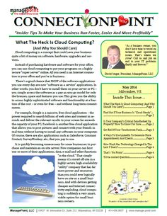 "May 2014 Newsletter: ""What The Heck Is Cloud Computing?"