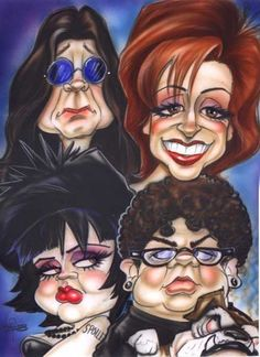 The Osbournes Caricature