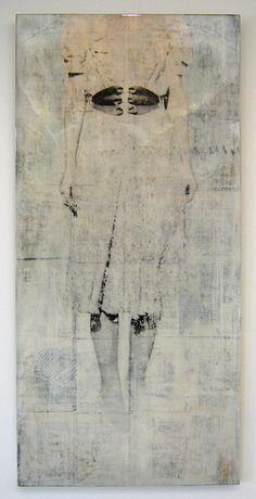 """Lifted Spirit, 2011, Mike Weber, 32 x 68 x 1.5"""", Mixed Media on Panel, Resin Coated, Available thru Obsolete, Venice, CA"""