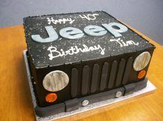 Jeep Themed Birthday Cake