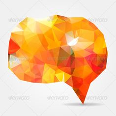 Abstract orange geometric speech bubble with triangular polygons ...  abstraction, art, artwork, banner, blank, bubble, chat, cloud, communication, concept, conversation, crystal, decorative, dialog, discussion, empty, geometric, graphic, greeting, icon, idea, illustration, invitation, label, low, message, modern, mosaic, orange, origami, paper, poly, polygonal, red, shape, sign, speech, symbol, tag, talk, template, text, texture, think, triangle, triangular, vector, web