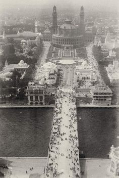 Trocadero from Eiffel Tower circa 1900 photo by author Emile Zola