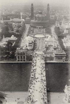 Trocadéro de la Tour Eiffel vers 1900 photos par auteur Emile Zola