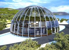 Luis de Garrido Glass-Domed Eco House Shaped Sustainable Design Innovation, Eco Architecture, Green Building in Turkey