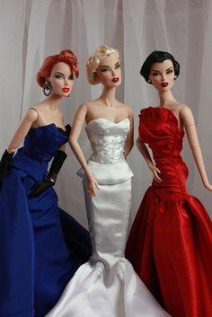 Red White & Blue Fashion Royalty Dolls