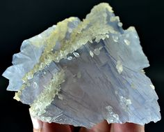 155 Grams Top Quality Light Blue Color & Color Change Fluorite Specimen