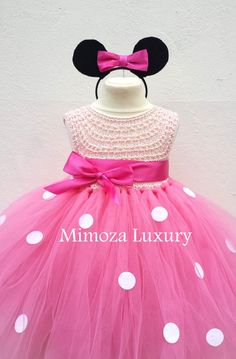 Minnie mouse dress minnie mouse birthday dress by MimozaLuxury  I would love to have this for the girls