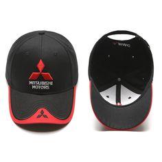 For Mitsubishi Emblem Hat Cap Car Moto Racing Baseball Cap Adjustable Sun Hat For Mitsubishi Lancer f10Mitsubishi accessories