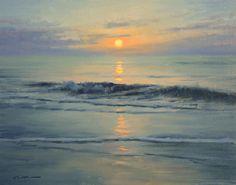 Matthew J. Cutter, Rising Sun, oil, 11 x 14.