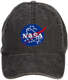 01909559599 E4hats NASA Insignia Embroidered Washed Cap - Black OSFM at Amazon Men s  Clothing store