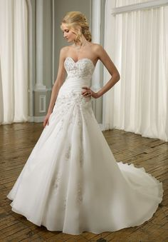 sweetheart bridal gowns | ... Wedding Dresses > Organza Strapless Sweetheart A-line Elegant Wedding