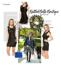 """Knitted Belle Boutique- 10"" by nihada-niky ❤ liked on Polyvore featuring Yves Saint Laurent and knittedbelleboutique"