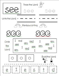 Sensational Sight Words - great practice pages and exclusive freebie set