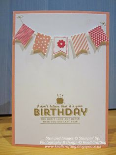 SALE-A-BRATION card featuring Stampin' Up! See Ya Later and Banner Blast stamp sets #StampinUp