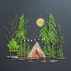 """Under the Stars"" Flower Print Vicky Rawlins"
