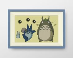 My Neighbour Totoro cross stitch pattern door NataliNeedlework