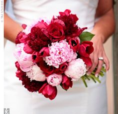 Pink Wedding Color Combos - My WordPress Website Pink Rose Bouquet, Red Bouquet Wedding, Bridal Bouquets, Burgundy Bouquet, Purple Bouquets, Tulip Bouquet, Bridesmaid Bouquets, Flower Bouquets, Purple Wedding