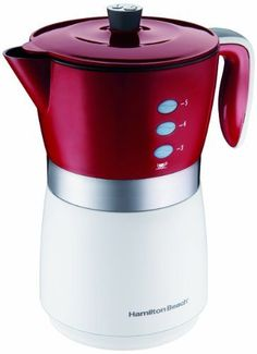 Hamilton Beach 43700 5-Cup Personal Coffee Brewer, Red - http://thecoffeepod.biz/hamilton-beach-43700-5-cup-personal-coffee-brewer-red/
