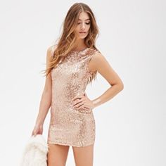Forever21 rose gold sequin dress NWT New with tags- cute rose gold sequin mini dress. Size small. Never worn, new with tags! Forever 21 Dresses Mini