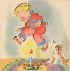 Here are more cute images from the 1941 Mother Goose book.