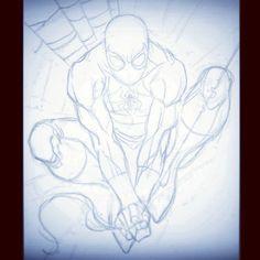 Spider-Man Sketch (2009) - Process  #SpiderMan #Marvel #sketch #pencils #WIP #process #JimCheung Spiderman Drawing, Comic Book Drawing, Man Sketch, Spiderman Marvel, Comic Books, Sketches, Comics, Drawings, Instagram Posts