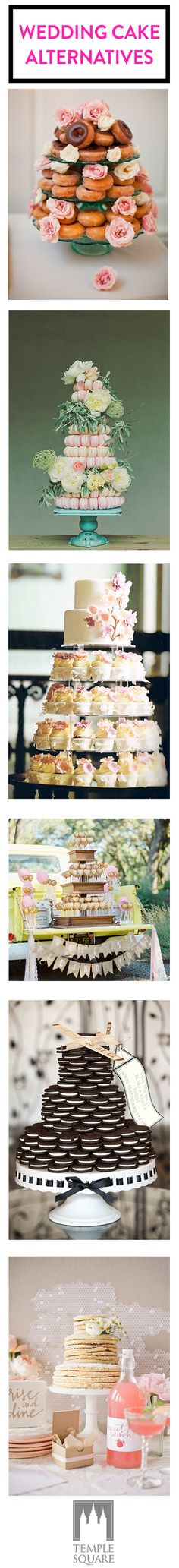 Ditch the cake at your wedding and go with one of these wedding cake alternatives!