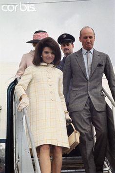 Jacqueline Kennedy Arriving in Spain 1966