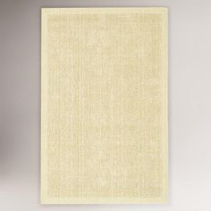 One of my favorite discoveries at WorldMarket.com: Solid Jute Pile Rug, Cream