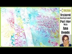 (309) Gel Press Create Textured Backgrounds with Stencils Part One with Ana Bondu - YouTube Gelli Plate Printing, Gel Press, Ink Stamps, Textured Background, Art Tutorials, Stencils, Backgrounds, Paper Crafts, Tapestry