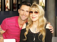 Back in when it was still unclear just how massive 'The Voice' would become, Stevie Nicks performed on the show's Season 1 finale with Team Adam's Javier Colon. And now, six seasons later, Stevie is returning to the show as an adviser to Adam Levine. Maroon 5, Behati Prinsloo Wedding, Adam Levine Behati, Nick Adams, Stephanie Lynn, Stevie Nicks Fleetwood Mac, The Wedding Singer, Music Photo, Photos Of The Week