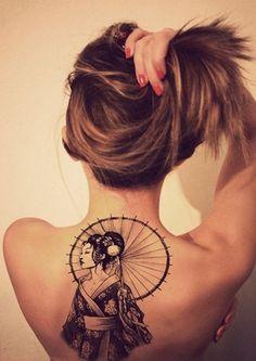 geisha tattoo - 50+ Beautiful Geisha Tattoos  <3 <3
