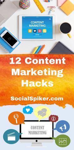 Take Your Online Marketing Over the Top with These 12 Content Marketing Hacks Marketing Software, Content Marketing, Affiliate Marketing, Internet Marketing, Online Marketing, Social Media Marketing, Digital Marketing, Marketing Training, Online Advertising