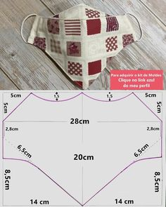 Small Sewing Projects, Sewing Hacks, Sewing Tutorials, Sewing Crafts, Easy Face Masks, Diy Face Mask, Mask Template, Diy Mask, Fashion Face Mask