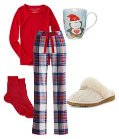 """""""Tis the night before Christmas"""" by ngaere-sweat ❤ liked on Polyvore featuring Maria La Rosa, Aéropostale, Joules, UGG Australia and Linea"""