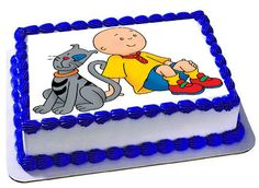 Caillou Edible Cake Topper, Caillou edible images, Frosting Sheet, Caillou Birthday Party