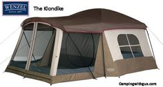 """The Wenzel Klondike family camping Tent is the #3 top-selling family tent that family campers are really buying! """"Big Room"""" design makes this tent a great choice for casual relaxed camping."""