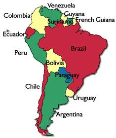 21 spanish speaking countries map without the countries of europe