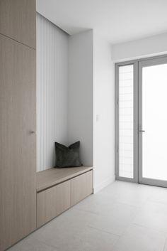 Home Entrance Decor, House Entrance, Home Decor, Hallway Storage, Cupboard Storage, Drop Zone, Mudroom, House Design, Coastal Interior
